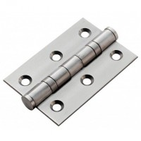 "Anvil 91038 3"" Ball Bearing Butt Hinges in Pairs Satin Stainless Steel £9.34"
