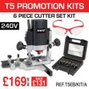 Trend T5EB/KIT/A T5EB 240V Router Kit with SET/SS11X1/4TC & SAFE/SPEC/A - £169.00 INC VAT