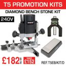 Trend T5EB/KIT/D T5EB 240V Router Kit with GAUGE/D60 & CR/DWS/B6/FC - £182.00 INC VAT