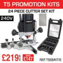 Trend T5EB/KIT/E T5EB 240V Router Kit with SET/SS24X1/4TC & CR/DWS/CC/FC - £219.00 INC VAT