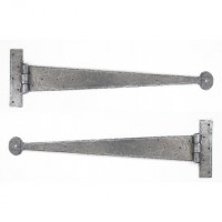 "Anvil 33655 Penny End 22"" Tee Hinges per Pair Pewter £49.12"