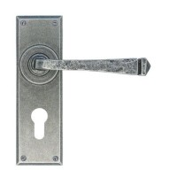Anvil 33703 Avon Euro Profile Lever Lock Door Handles Pewter Patina £73.50