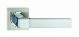 Fortessa Door Handles Ares Lever on Square Rose SNP/PCP £20.23