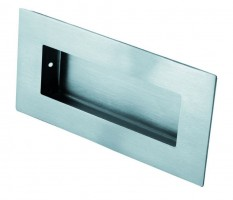 Steelworx 100mm x 50mm Rectangular Flush Pull FPH1000BSS Polished Stainless Steel £9.01