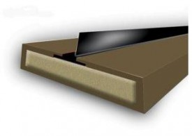 Intumescent Fire & Smoke Strip with Single Blade 2100 x 10mm Brown £3.15