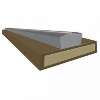 Intumescent Fire & Smoke Strip 2100 x 10mm Brown £1.62
