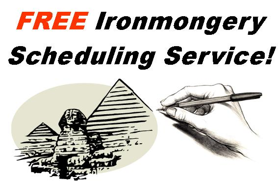 Architectural Ironmongery scheduling and quotations. Cookson Hardware can provide free quotes and schedules for all sizes of projects.