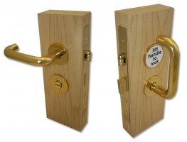 Jeflock Disabled Bathroom Lockset Polished Brass £235.63