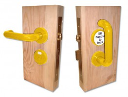 Jeflock Disabled Bathroom Lockset Antibac Normbau Yellow £158.76