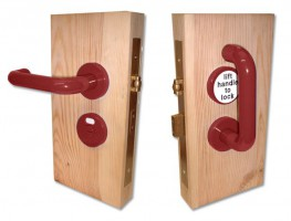 Jeflock Disabled Bathroom Lockset Standard Red £158.76