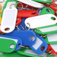 Plastic Key Tags Pack of 10 £1.55