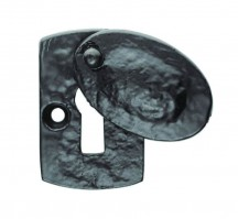 Ludlow Foundries Plaque Covered Lever Key Escutcheon LF5538 Black Antique £5.25