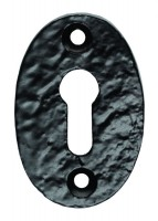 Ludlow Foundries Oval Shaped Lever Key Escutcheon LF5539U Black Antique £1.92