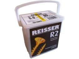 Reisser R2 Wood Screws Yellow Countersunk 5mm x 80mm Tub of 400 - £21.10 INC VAT