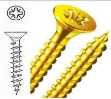 Reisser R2 Wood Screws 5mm x 70mm Countersunk Yellow Industry Pack  400 In Box £18.03