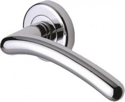 Marcus SC2012-PC Ico Round Rose Lever Door Handles Polished Chrome £12.34