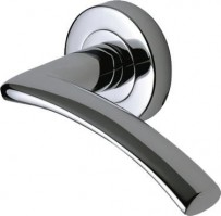 Marcus SC4352-PC Tosca Round Rose Lever Door Handles Polished Chrome £15.45