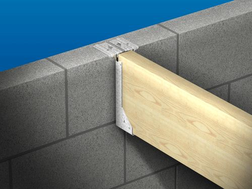 how to fix timber joists into breeze block wall please. | diynot