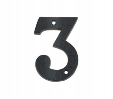 Foxcote Foundries FFN03 Door Number 3 Black Antique £2.88