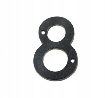 Foxcote Foundries FFN08 Door Number 8 Black Antique £2.88