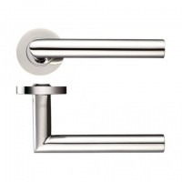 Zoo ZCS010PS 19mm Mitred Lever on Rose Door Handles G304 Polished Stainless Steel £12.89