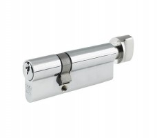 Vier Euro Cylinder & Turn 100mm Offset 55mm/45mm 5 pin Satin Chrome £11.87