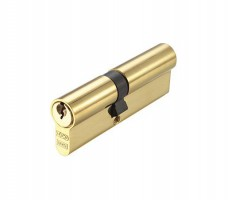 Vier Euro Double Cylinder 90mm Offset 40mm/50mm 5 pin Polished Brass £10.97