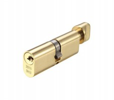 Vier Oval Cylinder & Turn 70mm 5 pin Polished Brass £13.85