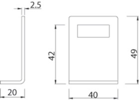 Angle Keep T251 for Cubicle Door Indicator Locks.