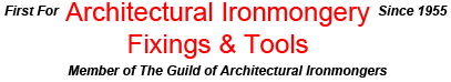 Cookson Hardware first for architectural ironmongery, fixings and tools. Members of the GAI Guild of Architectural Ironmongers. We supply and deliver ironmongery direct to your door or site.