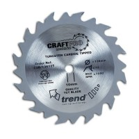 Trend Circular Saw Blade CSB/16024T CraftPro TCT 160mm 24T 16mm Thin £16.79