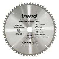 Trend Circular Saw Blade CSB/CC30560 CraftPro TCT Mitre Saw Crosscutting 305mm 60T 30mm x 2mm £36.94