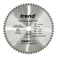 Trend Circular Saw Blade CSB/CC30560A CraftPro TCT Mitre Saw Crosscutting 305mm 60T 30mm x 3mm £36.94