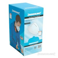 Silverline Comfort Face Dust Masks pack of 50 £6.19