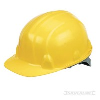 Silverline Safety Hard Hat Yellow £7.26