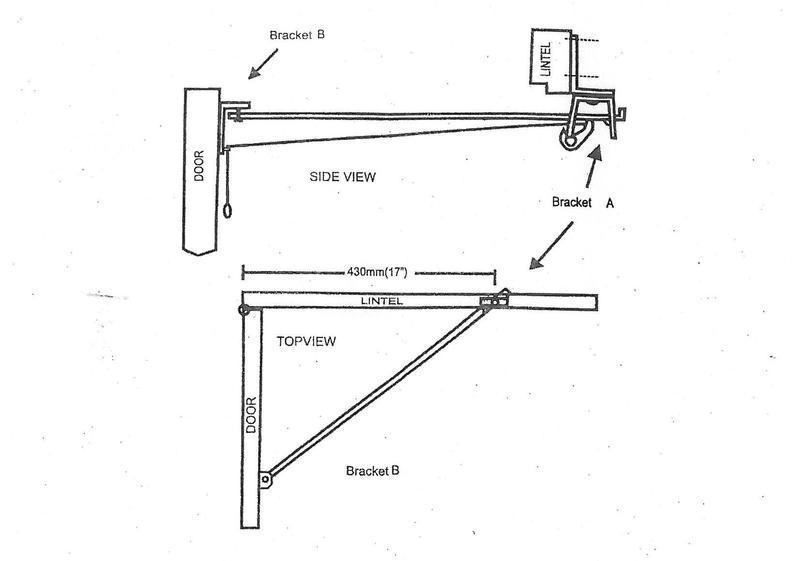Fixing instructions for 1011 garage door stays for wide lintels