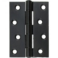 "Anvil 91042 4"" Butt Hinges in Pairs Black £11.79"