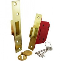 Union StrongBOLT 81mm 5 Lever Deadlock BS3621 2007 Brass £23.49