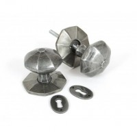 Anvil 33066 Large Octagonal Mortice or Rim Knob Set Pewter £67.55