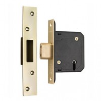 Securefast 76mm 5 Lever Deadlock Brass BS3621-2007 £26.04