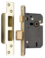 Securefast 76mm 5 Lever Sashlock Brass BS3621-2007 £26.92