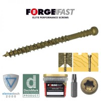 ForgeFast Reduced Head Composite Decking Screw Torx Tan 4.5 x 50 Tub of 600 £24.91
