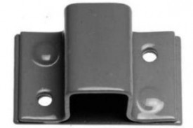 583 Staple on Plate for Square Bolt Black £2.63
