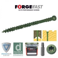 ForgeFast Reduced Head Composite Decking Screw Torx Green 4.5 x 60 Tub of 500 £24.91