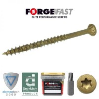 ForgeFast Decking Screw Torx Tan 4.5 x 75 Tub of 400 £24.91