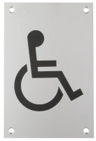 150 x 100mm Sign Disabled Figure Self Adhesive SAA £3.81
