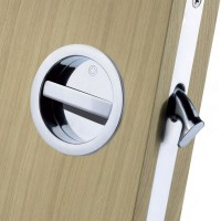 Manital Sliding Pocket Door Bathroom Lock Set ART55BCP Polished Chrome £66.65