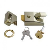 Asec AS1712 Standard 60mm Deadlocking Rim Nightlatch Brasslux £24.43