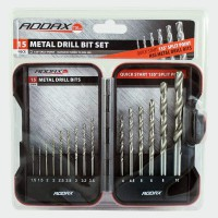 Addax HSS Metal Drill Bit Set 15 Pieces £11.66