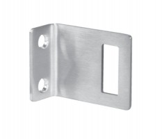 Angle Keep for Toilet Cubicle Door Lock 13mm Board T250S Satin Stainless £6.30